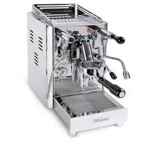 En espressomaskin för färdigmalt kaffe